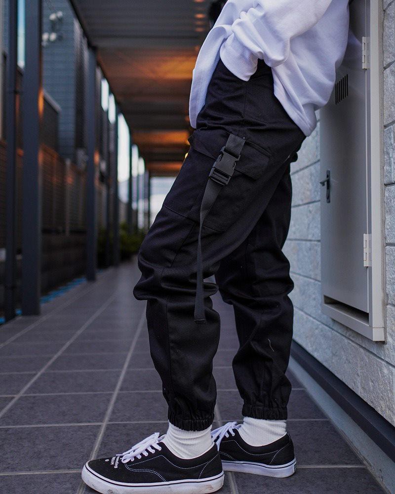 サイドベルトブラックカーゴジョガーパンツ(小さいサイズ)の画像6